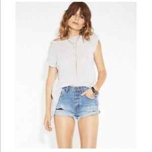 Size 24 oneteaspoon high waisted denim shorts